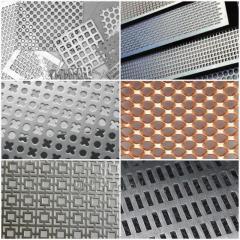 Tabla perforata si Tabla expandata din aluminiu, inox, otel, alama, cupru, zinc etc.
