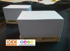 Mini paleti cu bloc notes hartie - Paper cube on wood mini pallet