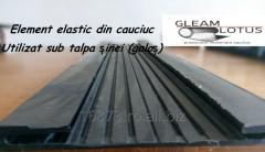 Element elastic din cauciuc Utilizat sub talpa șinei (galoș)