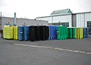 Bins for collect garbage (solid waste)