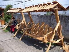 Leagan din lemn masiv