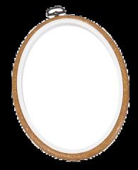 Ramă de plastic oval/Gherghef