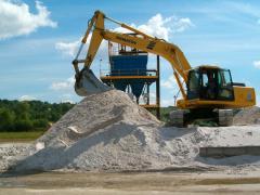 Nisip cuarţos pentru materiale de construcţii