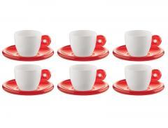 Set 6 cești cu farfurioare espresso