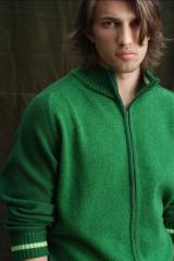 Pulover tricotat cu fermoar