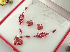 Set cristale Swarovski Truly in Love Heart