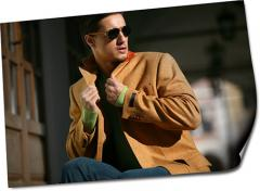 Jacheta din lana cu guler de blana