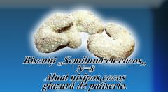 Biscuiti semiluna cu cocos