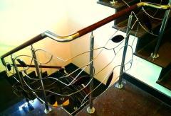 Balustrada inox - lemn
