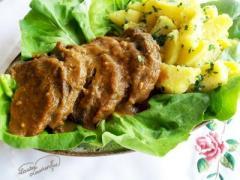Carne de vita preparata in stil traditional