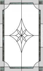 Fresco 052, sticla cu crestale fatetate
