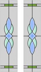 Sticla cu aplicatii de cristale fatetate Fresco 043