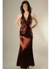 Rochie eleganta lunga din matase naturala cu
