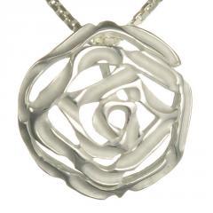 Pandantiv din argint trandafir stilizat