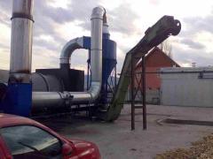 Uscator rumegus, tocatura 2.000kg/h uscat