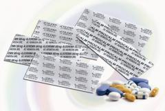 Folie aluminiu imprimata, pentru medicamente