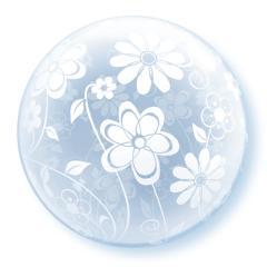 Balon bubbles 20, deco bubble, Floral patterns all