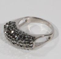 Inel din argint cu cristale tip svarowski