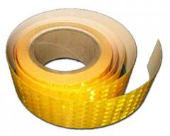 Thermal glue reflective tape