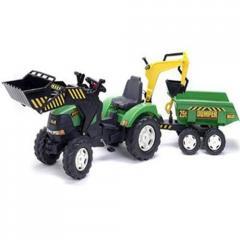 Tractor Powerloader cu pedale pentru copii