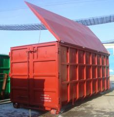 Abroll container cu capac metalic