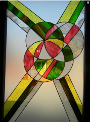 Stained-glass decorative windows