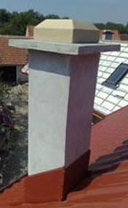 Heat insulated chimney pipe