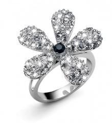 Inel Bloom cu cristale Swarovski