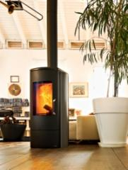 Cast-iron moveable wood stoves