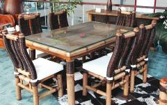 Furniture made of bamboo