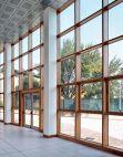Pereti cortina lemn - aluminiu