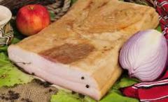 Slanina de porc afumata