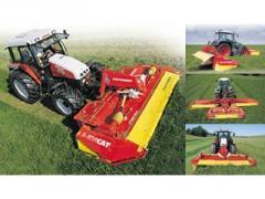 Finger grass-mowing machines