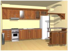 Kitchen made of natural wood
