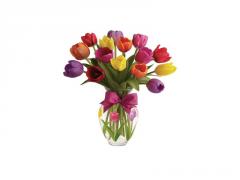 Buchet de 15 lalele multicolore
