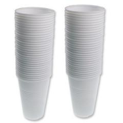 Pahare plastic alb 200ml