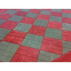 Paving slabs made of plastic