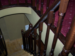 Railings made of oak