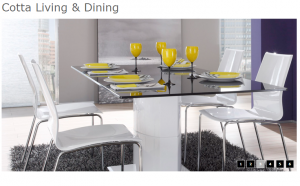 Cotta Living & Dining 3 Wite Table 4P