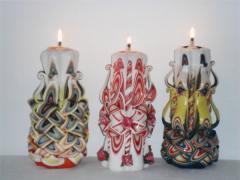 Lumanare sculptata tip candela