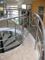 Chrome handrails