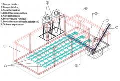 Buncar stocare material cu extractie hidraulica