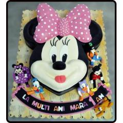 Tort Minnie Mouse din martipan