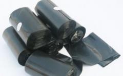 Sacks, polyethylene, plastic, rubber