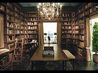 Biblioteci din lemn masiv BOKNAS