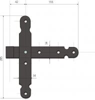 Sisteme de balamale pentru usi cu falt 0011-155