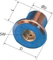 Piulita cilindrica infundata cu cap cilindric sau cap bombat