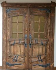 usa lemn masiv cu fier forjat