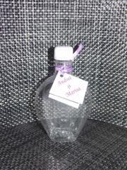 Sticla plastic pentru nunta - model inima - 330 ml