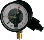 JUMO manic Contact pressure gauges with indication, process connection G 1/2, not front-flush (40.4020)